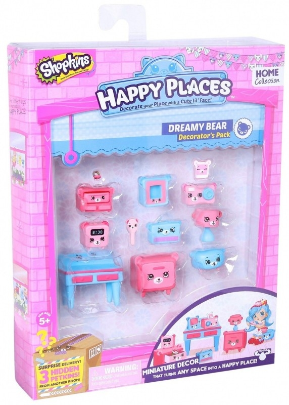 HAPPY PLACES SHOPKINS - Zestaw Dekorator, Dreamy Bear (HPP56195B)
