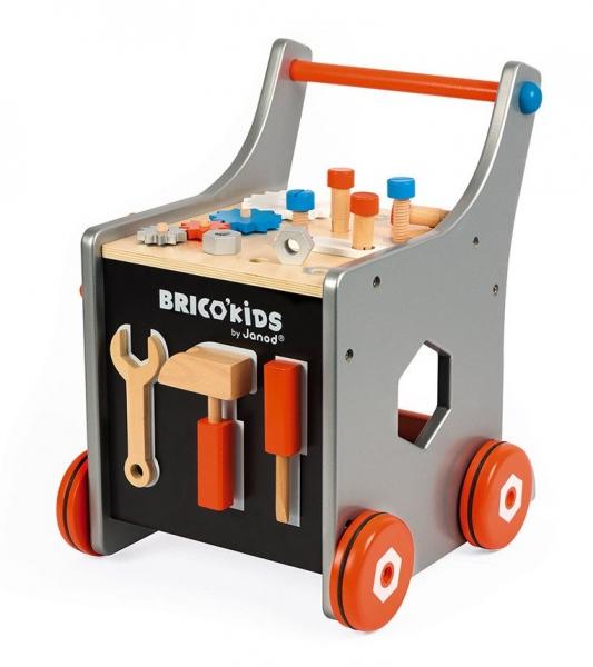 Wózek warsztat magnetyczny z narzędziami Brico 'Kids (J06478). Wiek: 18 mies.+