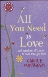 All You Need Is Love and sometomes its closer to home than you think Matthews Carole