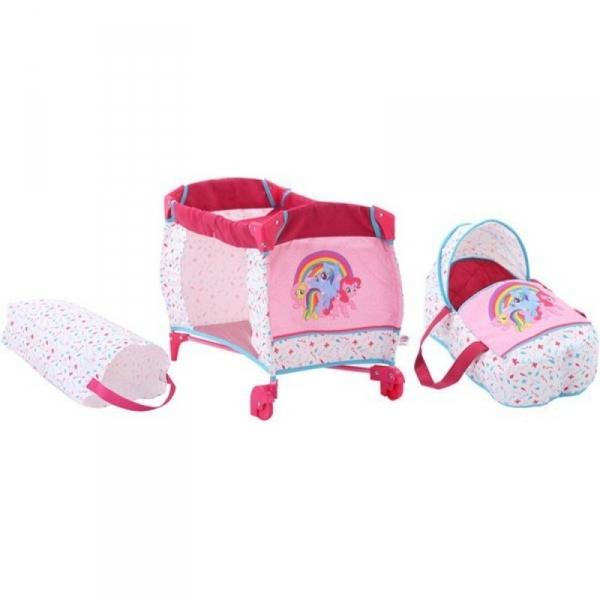 Łóżeczko dla lalki i nosidło 3 Little Pony (D-90278)