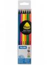 Kredki ołówkowe Milan FLUO 531 trójkątne, 6 kolorów w przezroczystym opakowaniu (0752306)