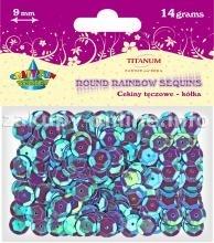 Dodatek dekoracyjny Titanum cekiny fioletowe 14g