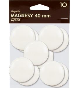 Magnesy Grand 40 mm biale op. 10 sztuk GRAND
