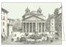 Karnet z kopertą ITW 001 - Roma, Piazza della Rotonda