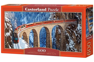 Puzzle Landwasser Viaduct, Swiss Alps 600 (B-060016)