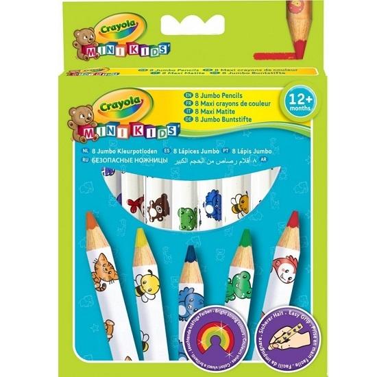 Kredki ołówkowe Crayola Mini Kids, 8 kolorów (3678)