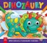 Dinozaury. Malowanka z ruchomymi oczkami