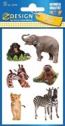 Naklejki papierowe. Dzikie zwierzęta (55978)