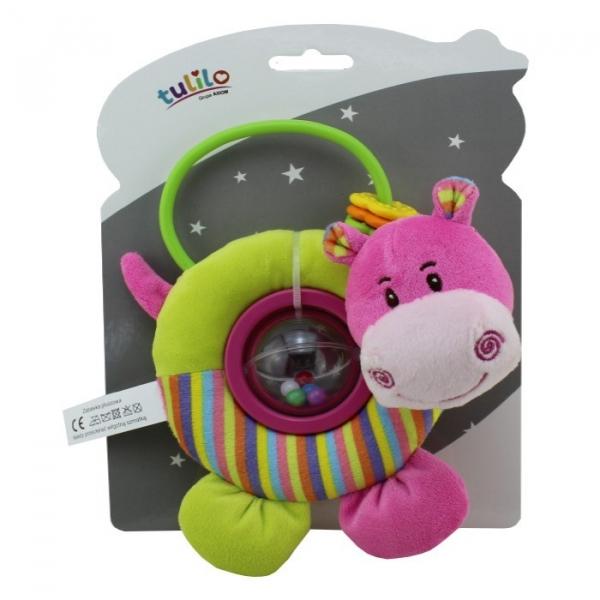 Grzechotka z dodatkami New Baby Hipopotam (4836b)