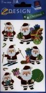 Naklejki świąteczne Z Design Christmas Mikołaje