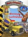 Mały chłopiec Maszyny budowlane Naklejki Duża plansza