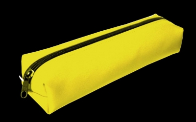 Piórnik PA412 ekoskóra żółty MESIO