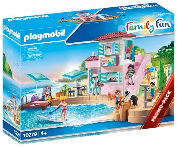 Playmobil Family Fun: Lodziarnia w porcie (70279)
