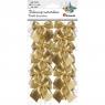 Dekoracje materiałowe kokardy złote (414435)