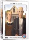 Puzzle 1000 Amerykański Gotyk, Wood Grant