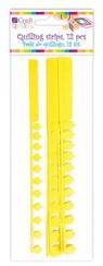 Płatkowe paski do quillingu piwonia i frędzle - żółte, 12 szt. (QGPQ-047)