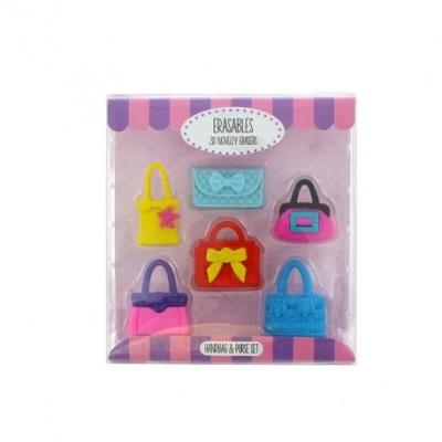 Gumki do mazania - zestaw torebki i portmonetki