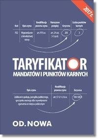 Taryfikator mandatów i punktów karnych red. Anna Prus