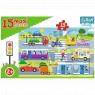 Puzzle 15 Maxi: Pojazdy miejskie (14279)