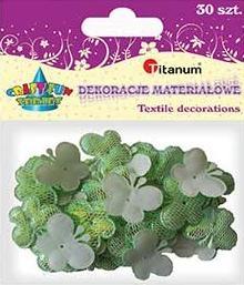 Dekoracje materiałowe motylowe zielone 30 szt. F003 284822