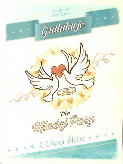 Karnet Ślub Gratulacje dla Młodej Pary SV02 SV02