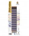 Ołówek trójkątny HB Real Madryt 4szt na blistrze