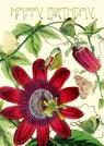 Karnet B6 brokat z kopertą Urodziny Passiflora