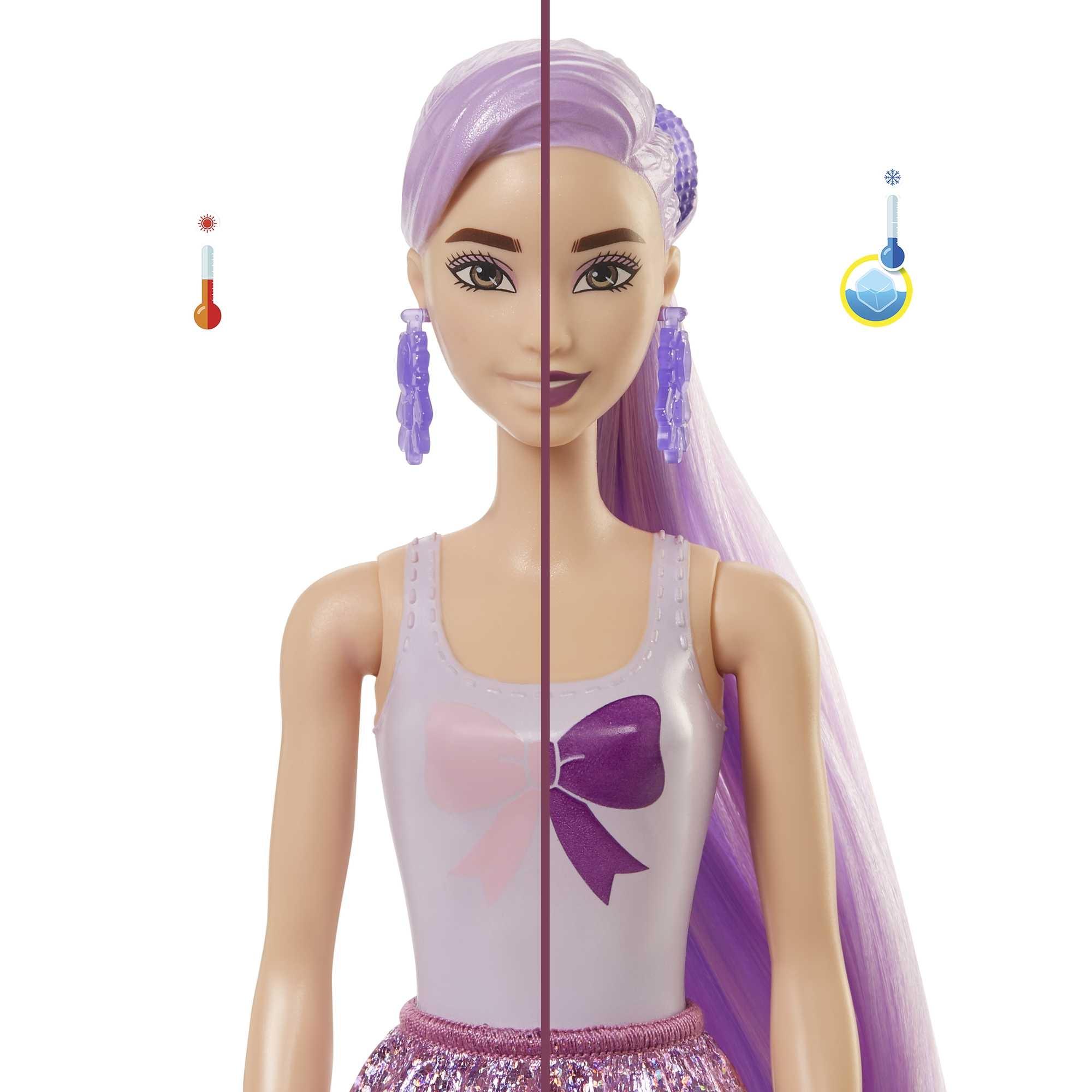 Barbie: Color Reveal - Brokatowa lalka Barbie (GTR93)