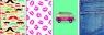Brulion A5 Economy w kratkę 96 kartek 5 sztuk mix