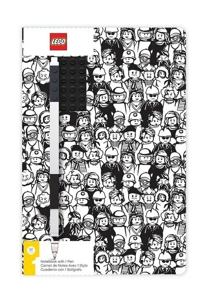 Notatnik w minifigurki LEGO® z płytką i długopisem (52379)