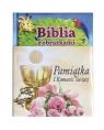 Biblia z obrazkami różowa Pamiątka I komunii świętej Thoroe Charlotte