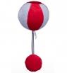 Piłka czerwono-szara (DD80304)Wiek: 0+