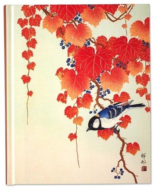 Notatnik duży Ptak i czerwony bluszcz