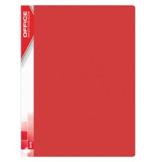 Teczka ofertowa A4/30 czerwona 620mic.Office Products 21123011-04 .
