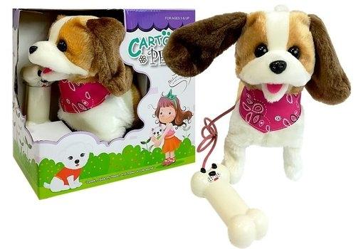 Pluszowy Pies na smyczy - Sterowany na pilota