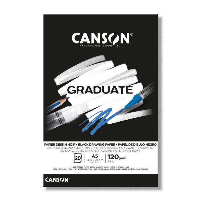Blok rysunkowy Graduate A5/20k - Czarny