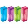 Berlingo: Temperówka NeonBox, 1 otwór, pojemnik mix kolorów