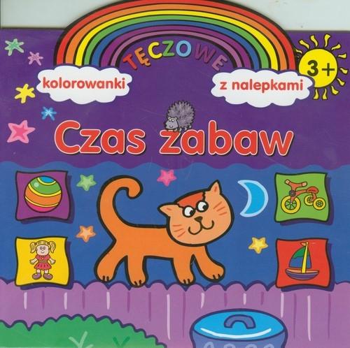 Czas zabaw Tęczowe kolorowanki z nalepkami Wiśniewska Anna