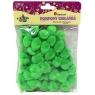 Pompony 1,8cm,15 szt.zielone