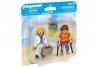 Playmobil: Figurka Duo Pack - Lekarka i pacjent (70079)
