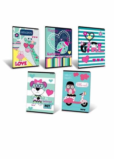 Zeszyt A5 Top-2000 Girl 16k linia podwójna kolorowa (LP2K 400087981)