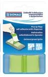 Zakładki indeksujące Donau samoprzylepne z dyspenserem 50 sztuk zielone