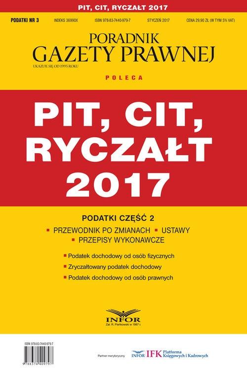 PIT CIT Ryczałt 2017 Podatki Część 2