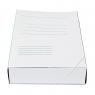 Teczka z szerokim grzbietem na gumkę Bigo box60 A4 kolor: biały (0064)