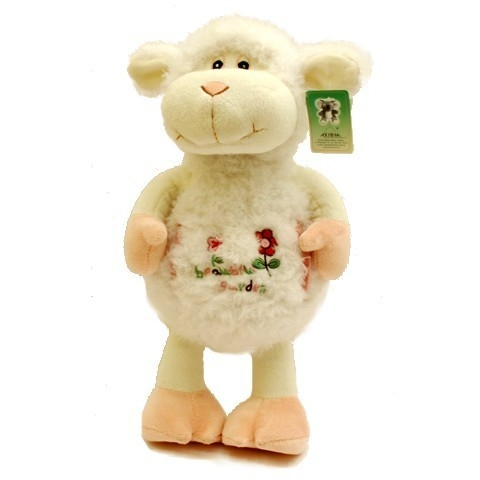 Owieczka Różowa Stojąca 34 cm