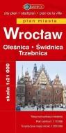 Wrocław. Oleśnica. Świdnica. Trzebnica. Plan miasta w skali 1:21 000 praca zbiorowa