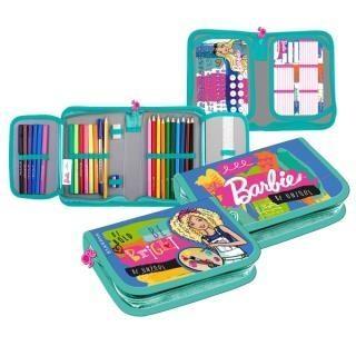 Piórnik z wyposażeniem 2kl Barbie