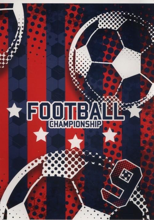Zeszyt A5 w kratkę 16 kartek Football 5 sztuk
