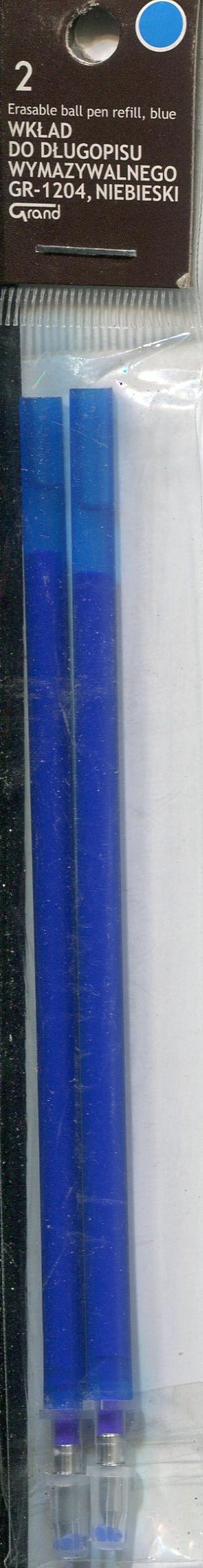 Wkład do długopisu wymazywalnego GR 1204 niebieski (160-2045)