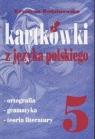 Kartkówki z języka polskiego kl 5